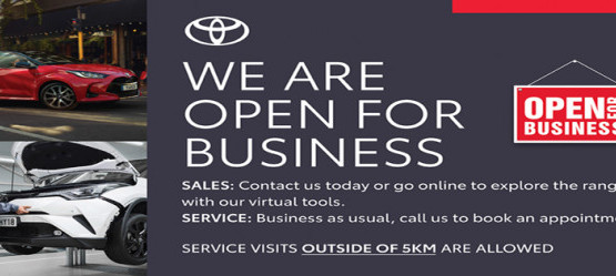 Tony Burke Motors Sales & Service remain open for business